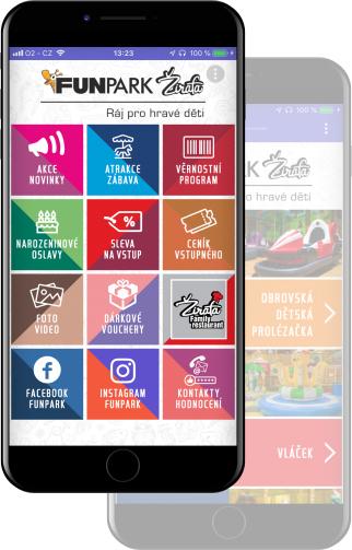 Žirafa Funpark aplikace - obrázek